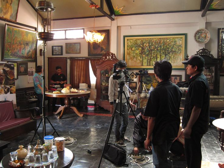 Our chef when shoot by local television in Malang, Indonesia