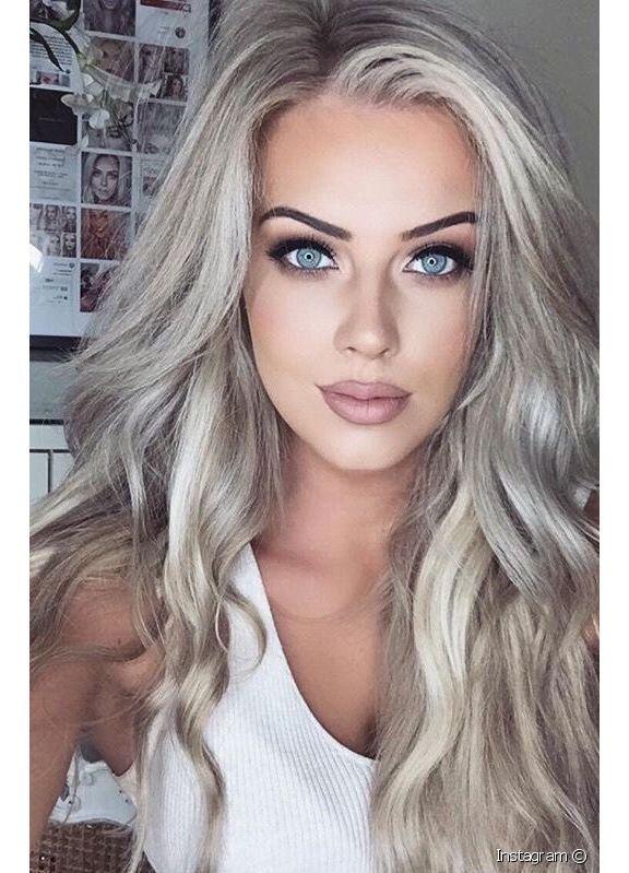 92324 صبغة شعر اشقر رمادي زيتوني فاتح جدا تزي Relative Image Container After 1 Jpg 576 799 Platinum Blonde Hair Color Grey Hair Dye Hair Color For Women