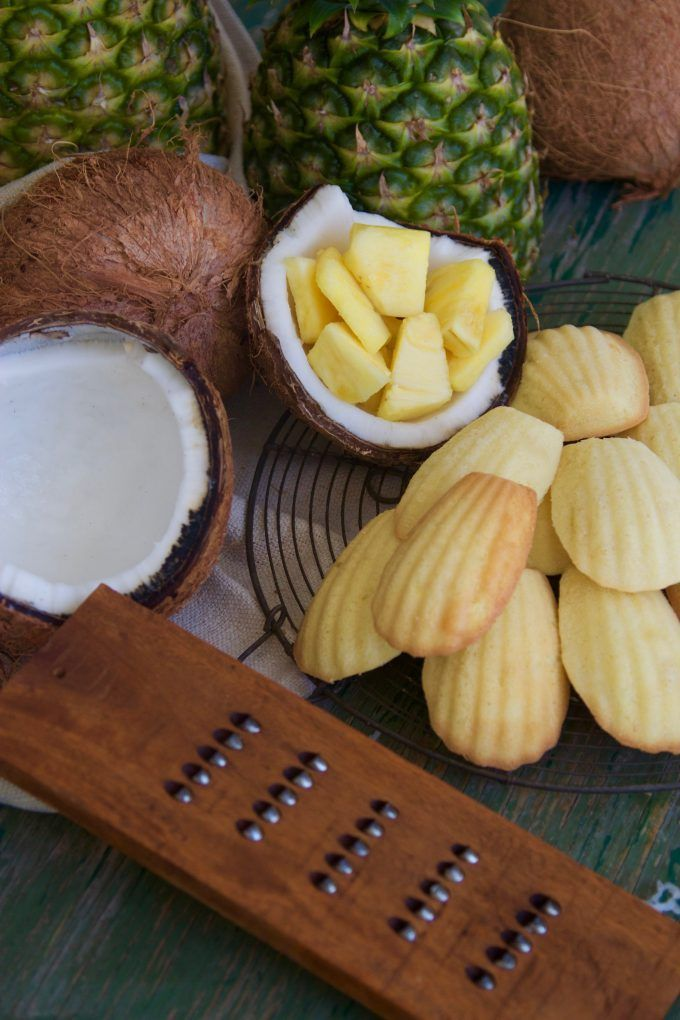 Pineapple Coconut French Madeleines grater