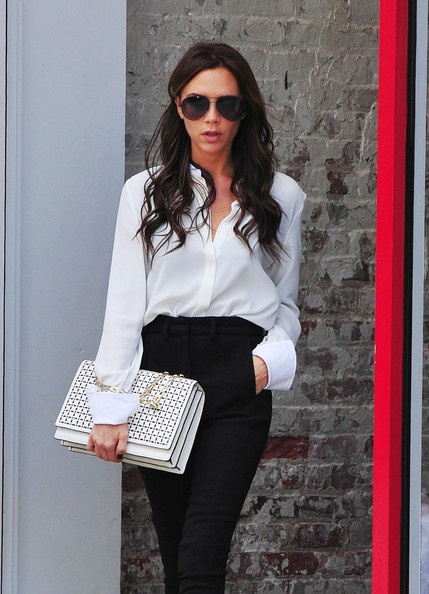 Victoria Beckham Photo - Victoria 'Posh' Beckham seen looking stylish as she is spotted leaving the Balenciaga fashion store in New York City