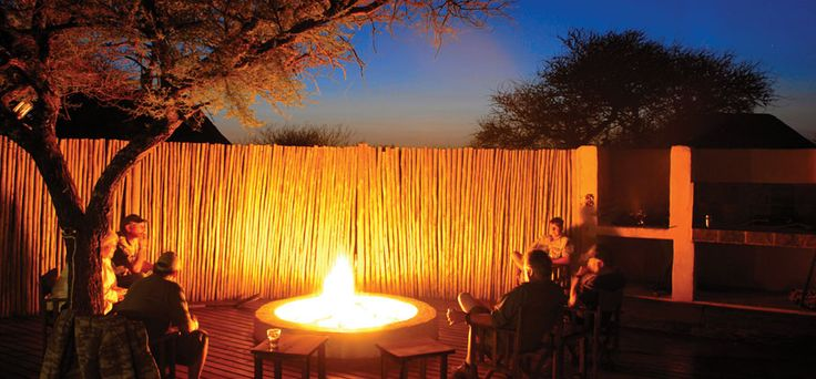 The boma at Kunkuru Ranch is a relaxing spot to meet fellow hunters from around the world and share stories of the day's hunt.