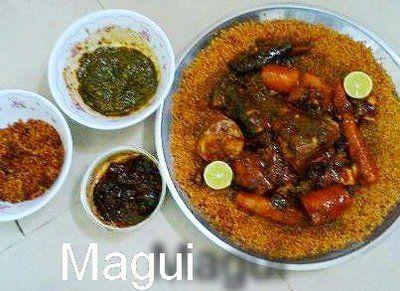 Tiep bou Dienn, recette sénégalaise de Dorade ou Mérou blanc farci avec ses sauces et un excellent mélange de riz aux légumes.