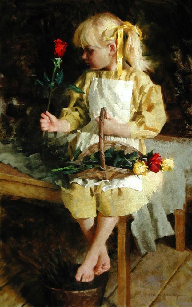 Morgan Weistling (1964-), Emmie's Rose, Oil on canvas: