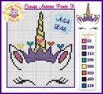 106 best Unicornio en punto de cruz images on Pinterest | Infantiles ...
