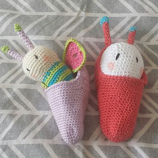 Crochet Butterfly and Cocoon. Link to purchase on Ravelry