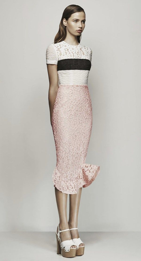 Louella Cotton Lace Sleeve Dress by Alex Perry
