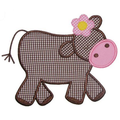 See It All :: Heidis Cow Applique - Embroidery Boutique