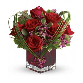 #bowmanvilleflowers #valentinesday #giftideas #love #sparklingcider #sparklerose #red #rose #teddy #bear #chocolatecoveredstrawberries  Teleflora's Sweet Thoughts Bouquet with Red Roses | Bowmanville, Courtice, Newcastle, Oshawa, Whitby Flower Delivery