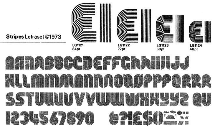 Bowfin Printworks - Font Identification - Type Samples - Lined, Inline & Multiline Fonts