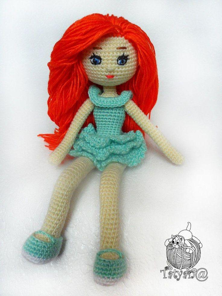 Вязаная кукла крючком амигуруми схема