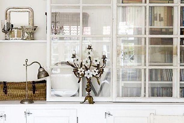 wintery white cabinetry.
