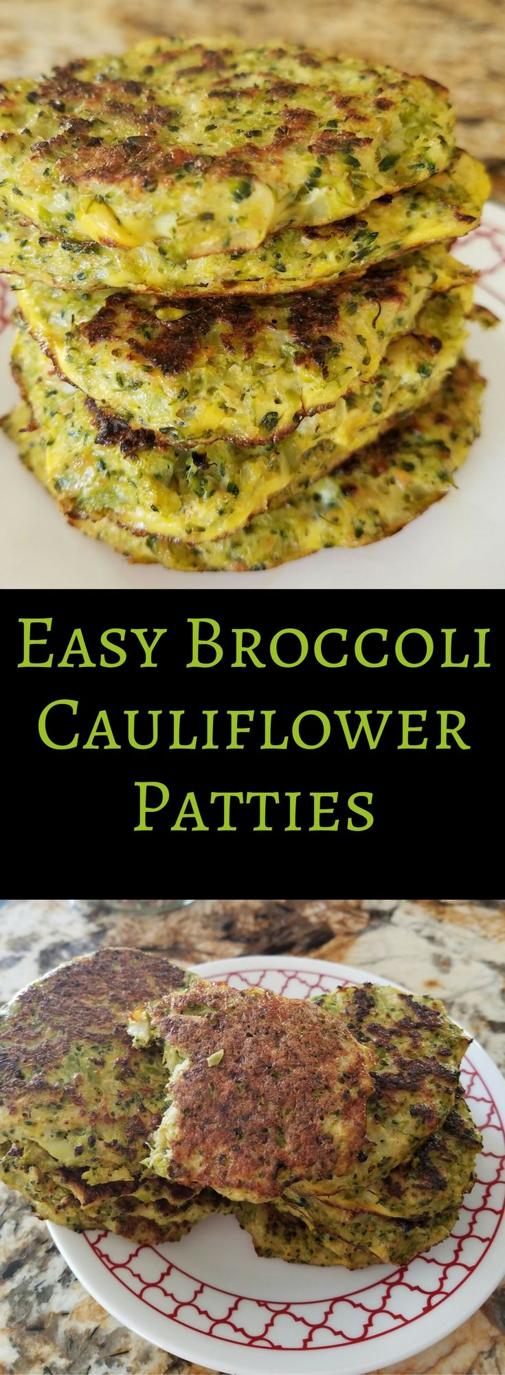 These easy to make broccoli cauliflower patties are a favorite at our house. Healthy, gluten free, low carb, vegetarian, they are great no matter what diet you follow
