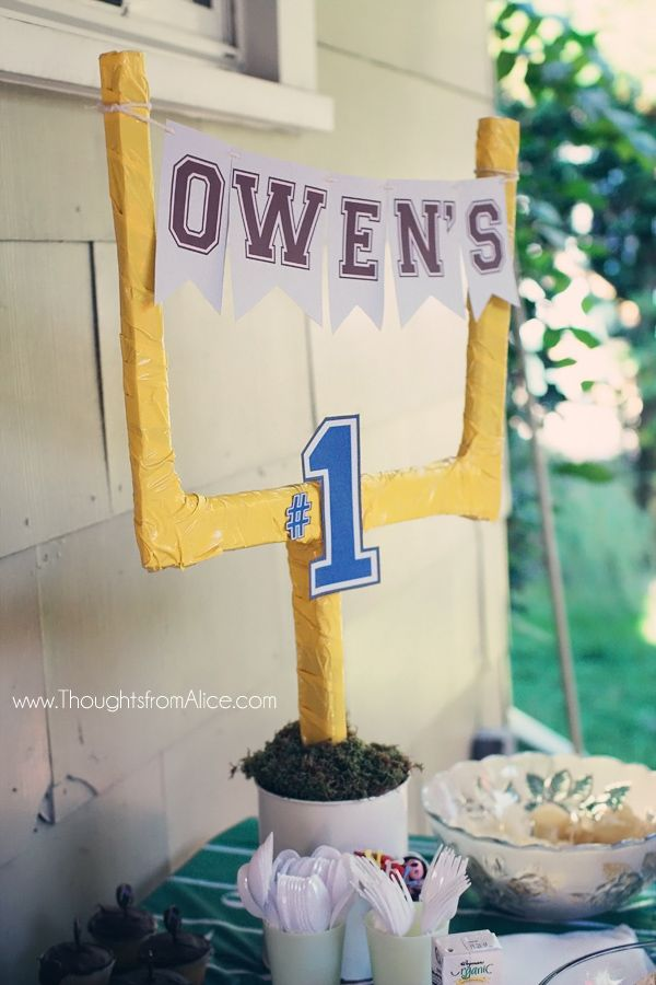 Thoughts from Alice: Owen's First Birthday: A Football Party {a look back}