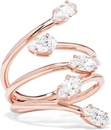 Anita Ko - Vine 18-karat Rose Gold Diamond Ring by Anita Ko  Anita Ko - Vine 18-karat Rose Gold Diamond Ring by Anita Ko Available Colors: rose gold  Available Sizes: 6  Anita Ko's ring is designed to look like vines elegantly wrapping around the finger. Cast from 18-karat rose gold it's meticulously hand-set with marquise and pear-cut diamonds that glisten from every angle. Complement yours with a neutral manicure.