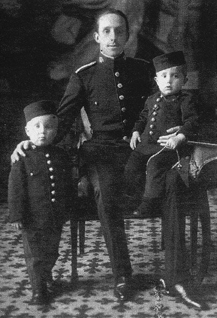 Alfonso XIII and his sons.