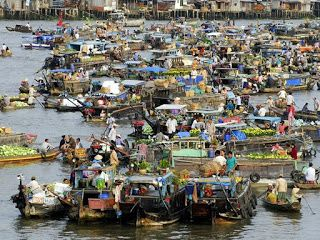 Cai Rang Floating Market - Can Tho - Vietnam