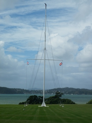 Waitangi flagpole, Treaty Grounds, Waitangi, Bay of Islands, New Zealand