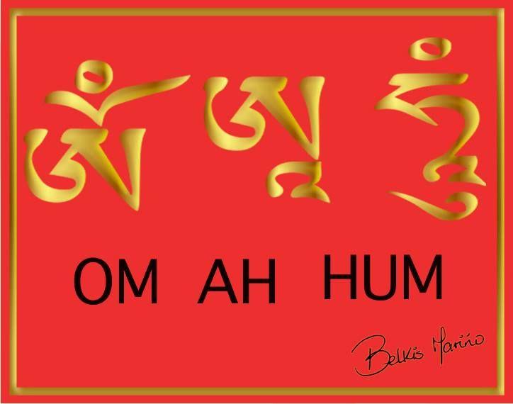 El símbolo del OM AH HUM es del Mantra de la   limpieza y la activación. Se usa cada vez que vamos a activar algo. Este símbolo se puede colocar en las coordenadas donde están las energías negativas. ¡Reconócelo