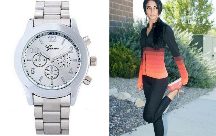 Ezüst színű órák sportos viseletek mellé