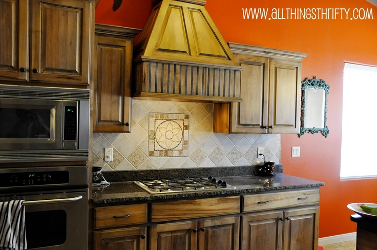 How to do a Back Splash .... All Things Thrifty Home Accessories and Decor: Back splash completed!