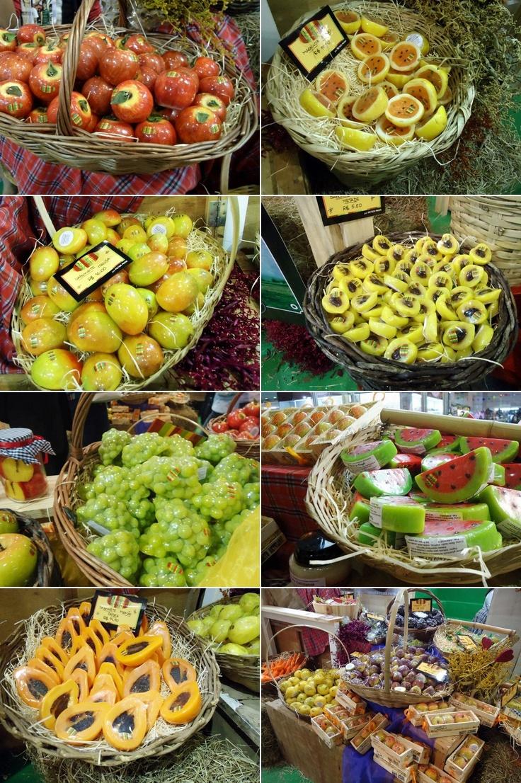 Sabonetes artesanais de frutas