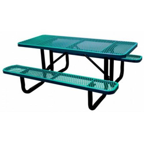 10-Ft. Rectangular Expanded Metal Picnic Table