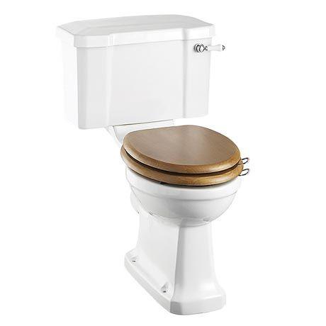 Burlington Close Coupled Traditional Toilet - Ceramic Lever Flush