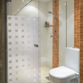 Create A Little Privacy And Add Interest To Plain Shower Cubicles