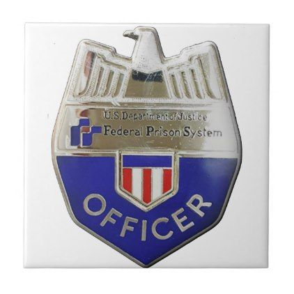 Federal Prison Officer Ceramic Tile - office decor custom cyo diy creative