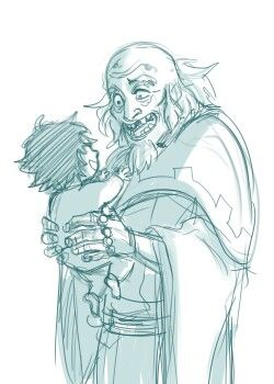 King Bumi meets Bumi II... have a hard time believing this could've actually taken place. I mean Bumi was already 112 when he came into contact with Aang, Katara, and Sokka:/ one can dream I suppose.