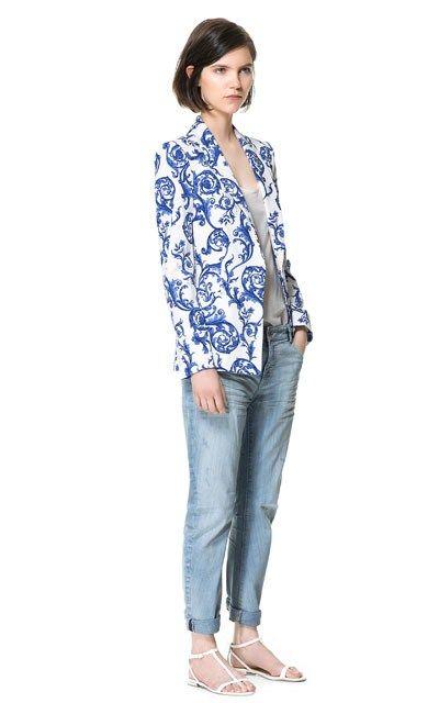 Европейский стиль 2014 новый обвал зар @ того же пункта фарфоровых керамических печати отдых пиджак блузки - Taobao