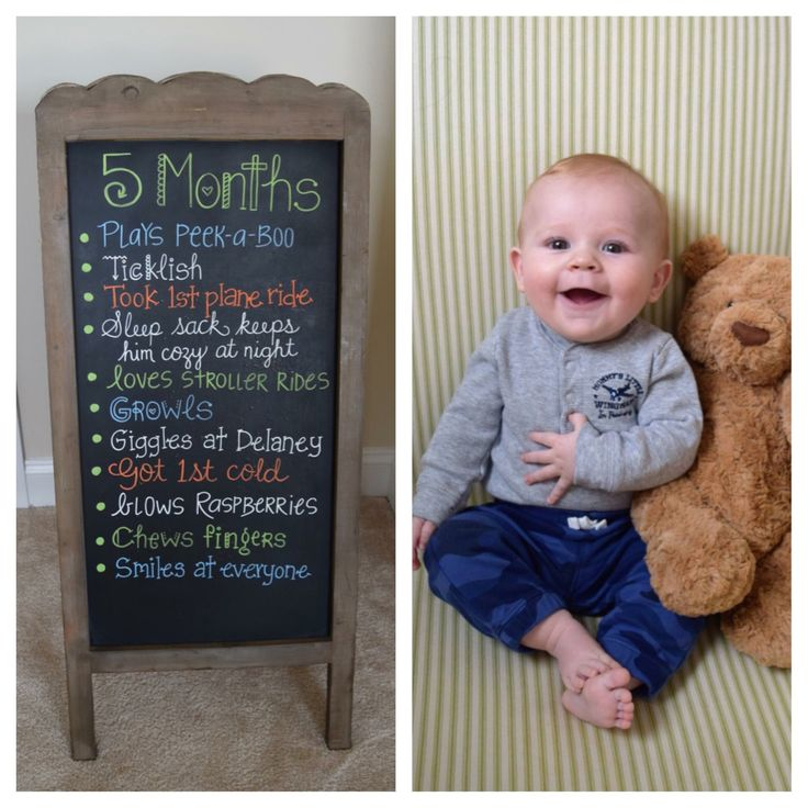 5 Months Baby Chalkboard