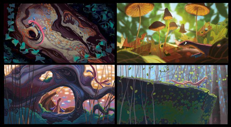 Pixar - Concept Art from 'Newt' - Art, Concept Art, Film Art