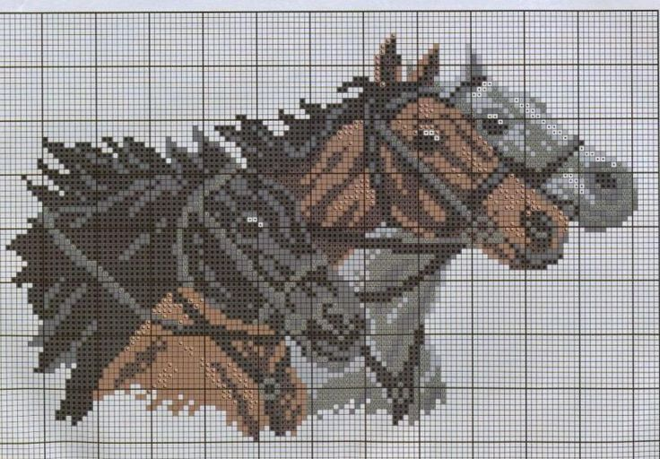 Horses cross stitch