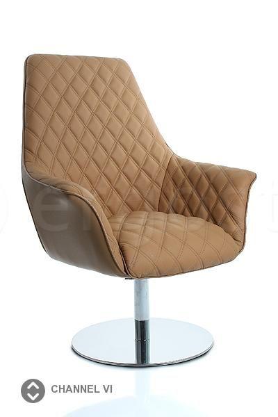 Channel Vi - офисное кресло для руководителей из кожи класса люкс на круглой опоре