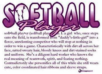 Softball players.