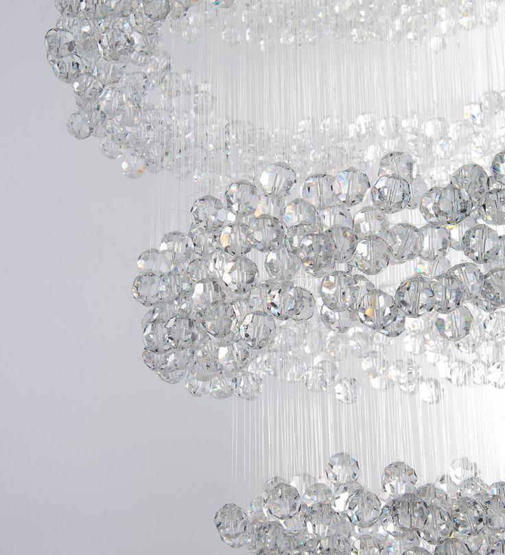 Eva Menz Design Chandelier Invisible Crystal Perspex Nylon Enchanting  Minimal Sparkling
