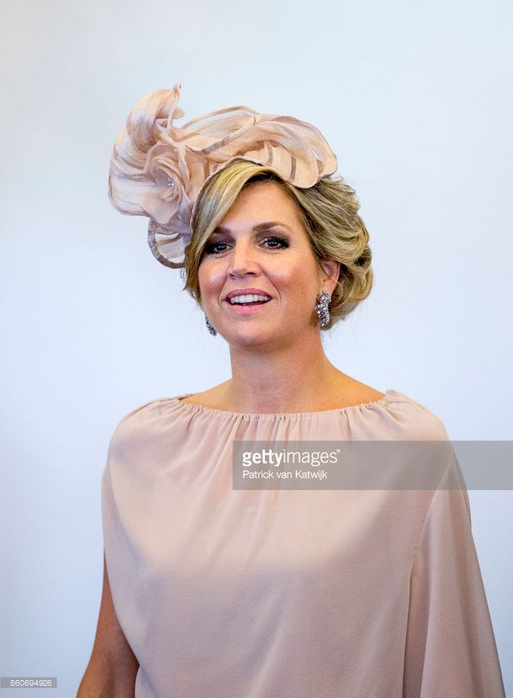 Queen Maxima of The Netherlands during the meeting with the Dutch Society in Portugal at Cidadela de Cascais on October 12, 2017 in Cascais, Portugal.