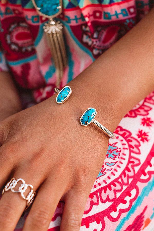 Bronze bracelet with turquoise