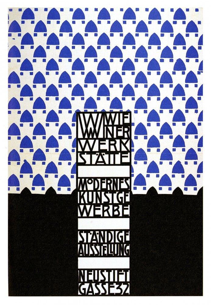 Wiener Werkstatte, exhibition poster. Art nouveau (Jungenstil)