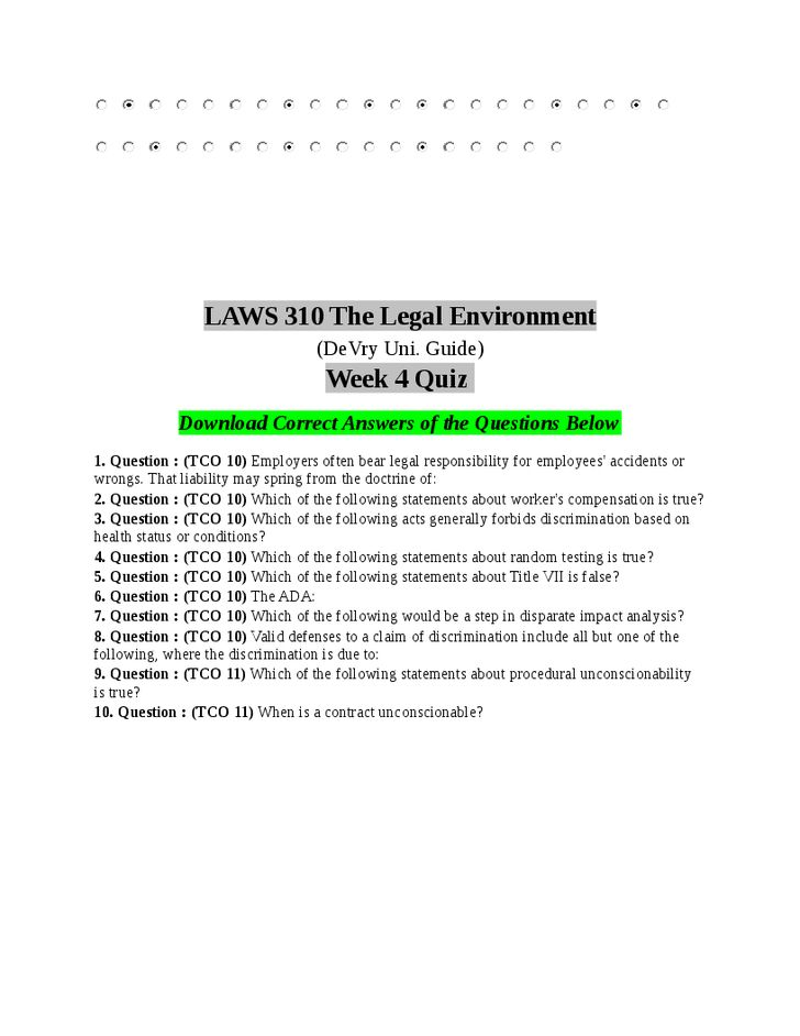 Laws 310 Week 7 Essay