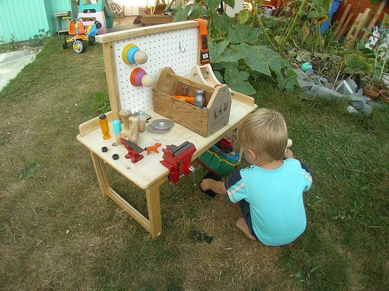 DIY Custom Toddler Workbench | Flickr - Photo Sharing!