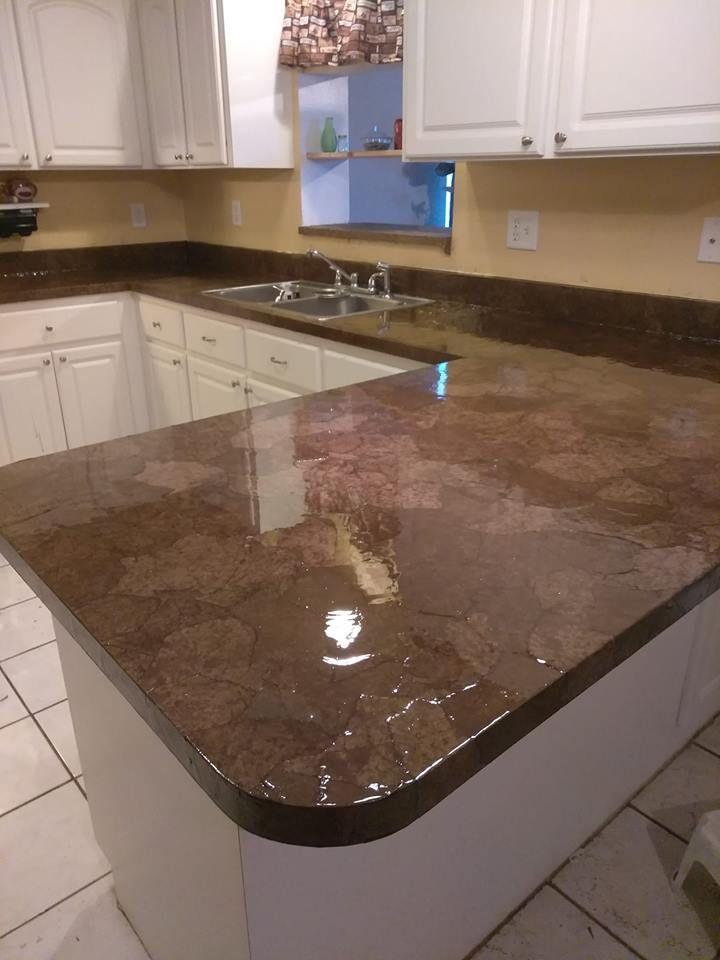Brown Paper Bag Kitchen Countertop Remodel Countertop Remodel