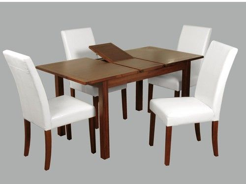 Hartford Acacia DINING SET with white chair, Hartford Acacia furniture, Hartford acacia  DINING SET with white chair, acacia  DINING SET with white chair