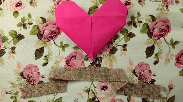Como fazer cartão de coração - Bolsa de Mulher