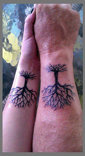 Pin for Later: 32 Creative Father-Daughter Tattoos Our Roots Go Deep