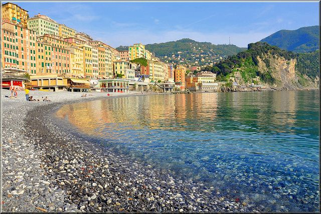 The fishing village of Camogli in Liguria. Don't miss it if you vidit Portofino. Check our suggested itineraries on www.beautifuliguria.com