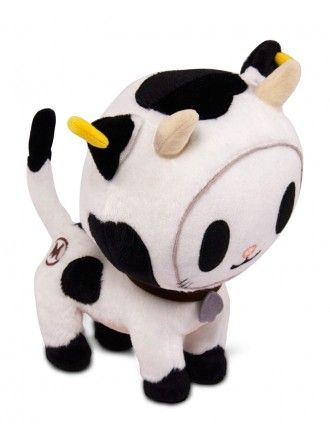 "Bocconcino Moofia Plush by tokidoki :::: Bocconcino! Perfect for any fans of the Moofia family, this super snuggly plush comes with a felt spade collar tag and ""I ♥ MILK"""