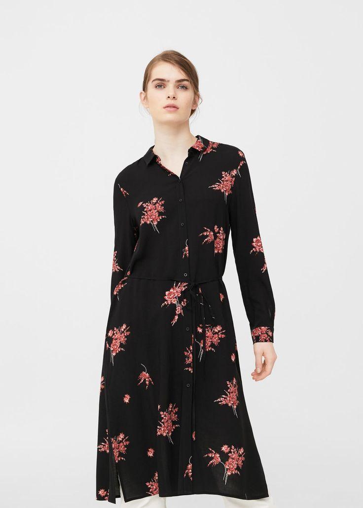Bedrucktes hemdkleid -  Damen | MANGO Österreich