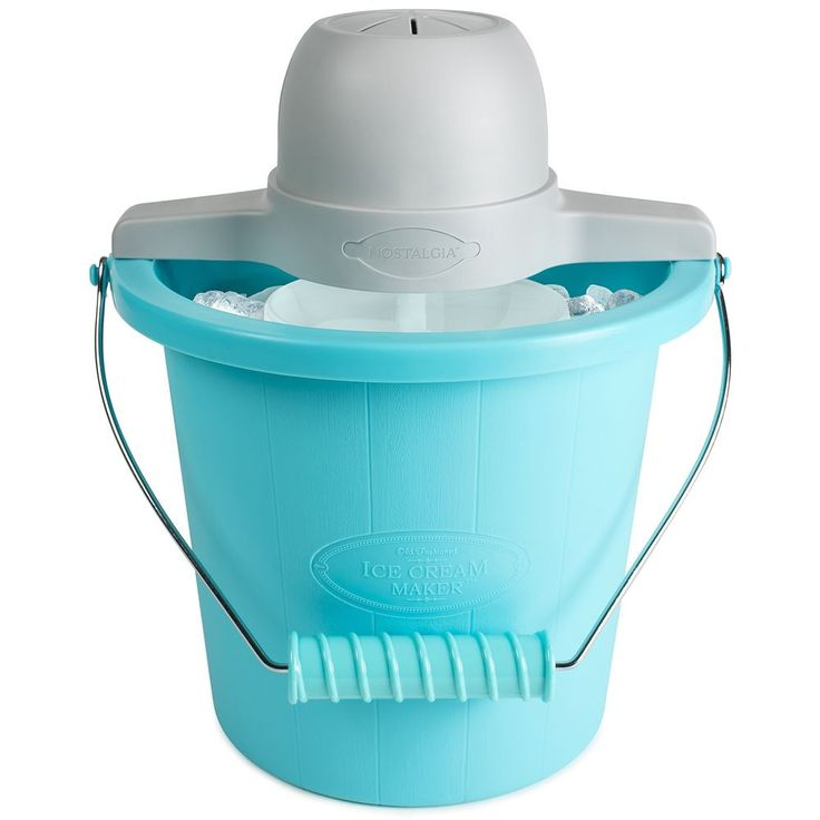 Icymi Nostalgia Icmp400blue 4 Quart Electric Ice Cream Maker With Easy Carry Handle Shop All Home Garden